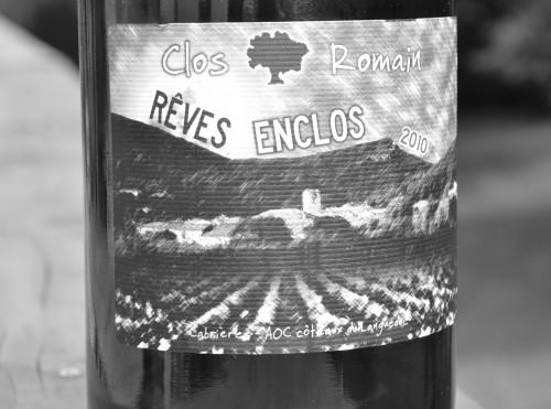 clos romain,languedoc,cabrières,rêves enclos,2010