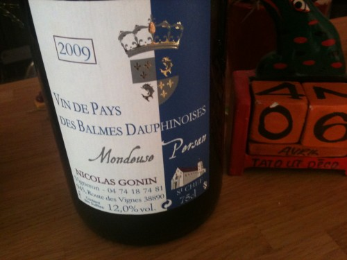 Balmes dauphinoises,nicolas gonin,persan,mondeuse,2009,