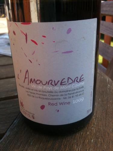 l'amourvèdre,domaine des terres promises,provence,vin de pays du mont caume,jean-christophe comor